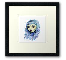 Spooky Unicornia and the Black Ooze Framed Print