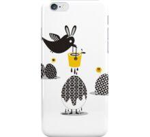 Cute bird Easter bunny ears painting eggs iPhone Case/Skin
