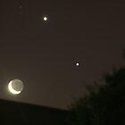 Jupiter, Venus & Moon by Tony Waite
