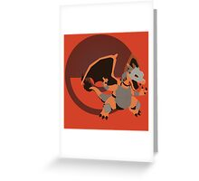 Armored Charizard (Pokemon) - Sunset Shores Greeting Card