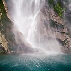 The big splash at Milford Sound by Elana Bailey