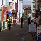 Caernarvon Street Scene by Trevor Kersley