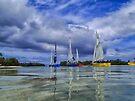 Sailing at Muri Beach by yolanda