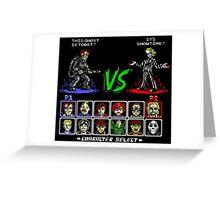 Super 80's Good Vs. Evil! Greeting Card