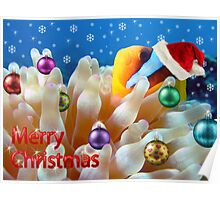 Underwater Christmas Card Poster