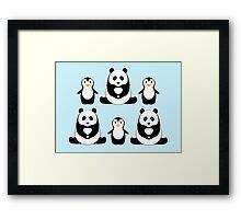 PANDAS & PENGUINS Framed Print