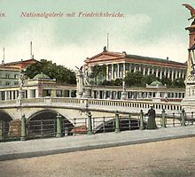 Berlin National Gallery and Friedrichsbruecke by Klaus Offermann