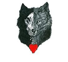 Wolf Heart Photographic Print