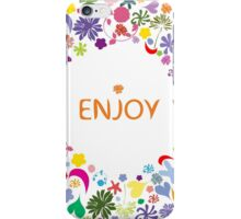 Abstract round floral pattern iPhone Case/Skin