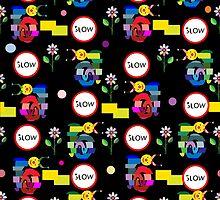 Funny snails mosaic pattern by sullivanthedog
