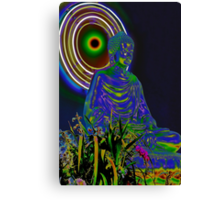 Psychedelic Buddha Canvas Print
