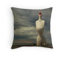 French surreal lighthouse Throw Pillow