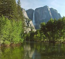 Yosemite Falls Spring Reflections by Stephen Vecchiotti
