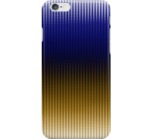 ZigZag Wave- Blue and Gold iPhone Case/Skin