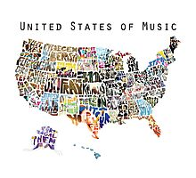United States of Music Photographic Print