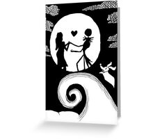 Jack and Sally in the night Greeting Card