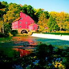 The Mill and the Falls in Fall by Mary Campbell