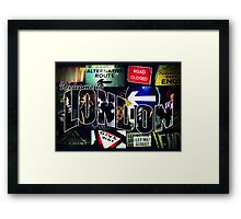 Welcome To London - Sherlock Version #3 Framed Print
