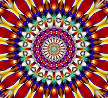 Fractal Art Kaleidoscope Images by Scott Bricker by Scott Bricker