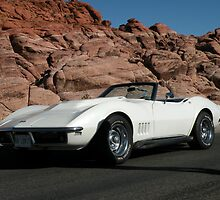 1968  Pearl White Corvette by Rita  H. Ireland