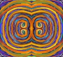Psychedelic Double Circle Supreme by BethofArt