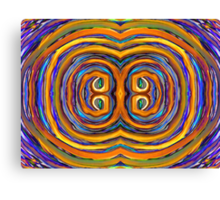 Psychedelic Double Circle Supreme Canvas Print