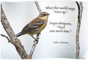 "When the world says, ""Give up"" . . . by Bonnie T.  Barry"