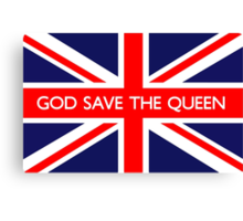 God Save The Queen UK Flag Canvas Print