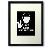 Live Long and Prosper (Leonard Nimoy) Framed Print