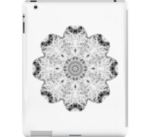"""Spirit of India: Fleur"" in white, grey and black iPad Case/Skin"