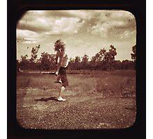 Bush Country Kart Wheel of Happiness Photographic Print