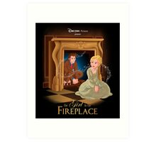 The Girl In The Fireplace Art Print