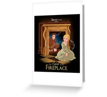The Girl In The Fireplace Greeting Card