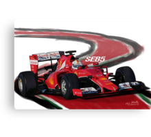 Ferrari SF15-T - Seb5 Canvas Print