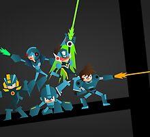 Mega Mans! by LoriLoriLori