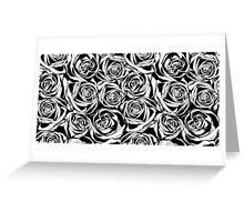 Pattern with black roses flowers.  Greeting Card