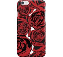 Pattern with red roses iPhone Case/Skin