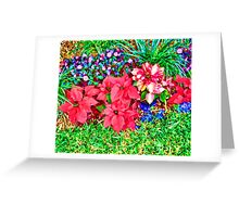 Bright Xmas Like Flowers Duvet Greeting Card