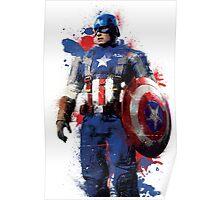 """""""Captain America"""" Splatter Art Poster"""