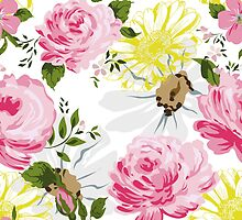 Elegance floral pattern. Spring mood. by LourdelKaLou
