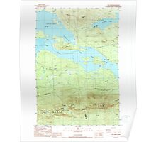 Maine USGS Historical Map The Horns 460962 1989 24000 Poster