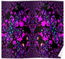 Abstract Purple on Black - all current products Poster