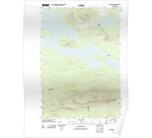 Maine USGS Historical Map The Horns 20110913 TM Poster