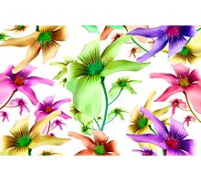 Multicolored Floral Print Pattern Photographic Print