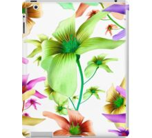 Multicolored Floral Print Pattern iPad Case/Skin