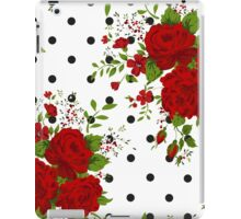 Pattern with abstract red flowers. Rose vintage background iPad Case/Skin