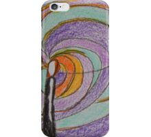 Imagination, Abstract Colored Pencil Drawing, Pastel Colors iPhone Case/Skin