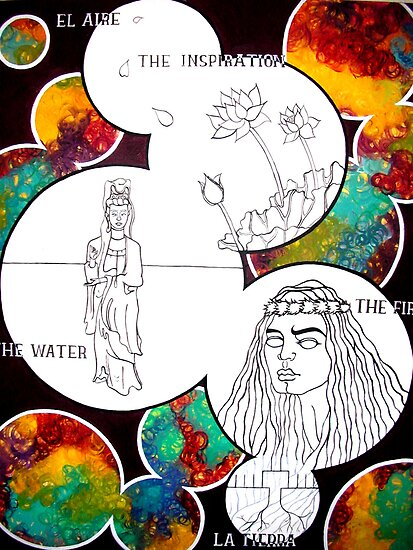 el aire, the inspiration, the fire, the water, y la tierra by smallwater