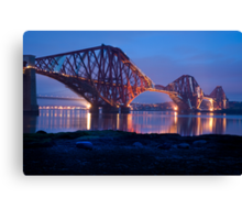 Reflections Before Sunrise: The Forth Railway Bridge  Canvas Print