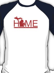 Michigan Home Red Wing Red T-Shirt